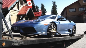 Ferrari being seized