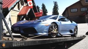 Ferrari being seized